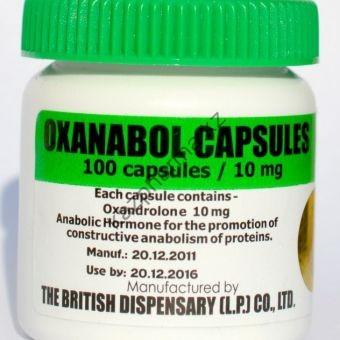 Oxanabol (Оксандролон, Анавар) British Dispensar 100 таблеток (1таб 10 мг) - Бишкек