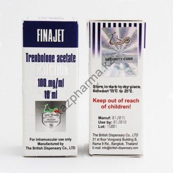 FINAJET (Тренболон ацетат) British Dispensary балон 10 мл (100 мг/1 мл) - Бишкек